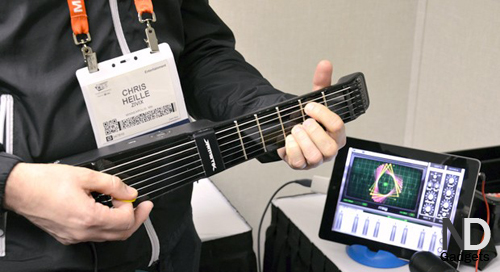 JamStik - miniature MIDI-guitar, compatible with iPad