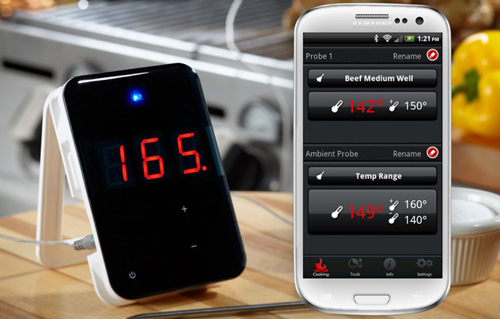 Bluetooth Grill-Thermometer with iOS and Android App