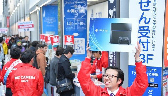 Sony Playstation 4 debuted in his homeland