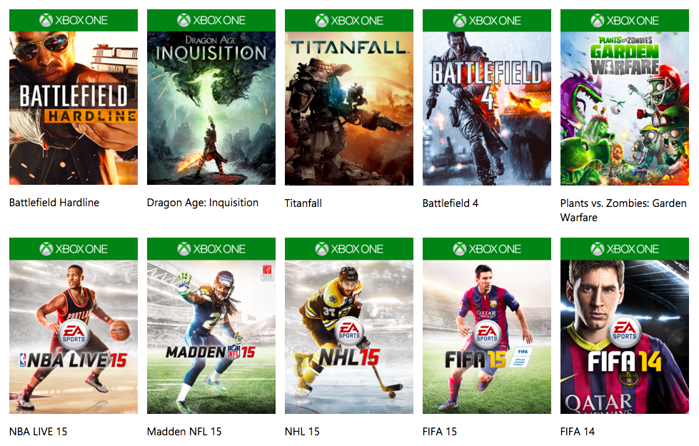 EA Vault free of Xbox Live Gold